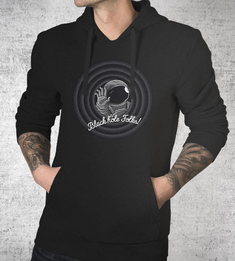 Black Hole Folks Hoodies by Elia Colombo - Pixel Empire