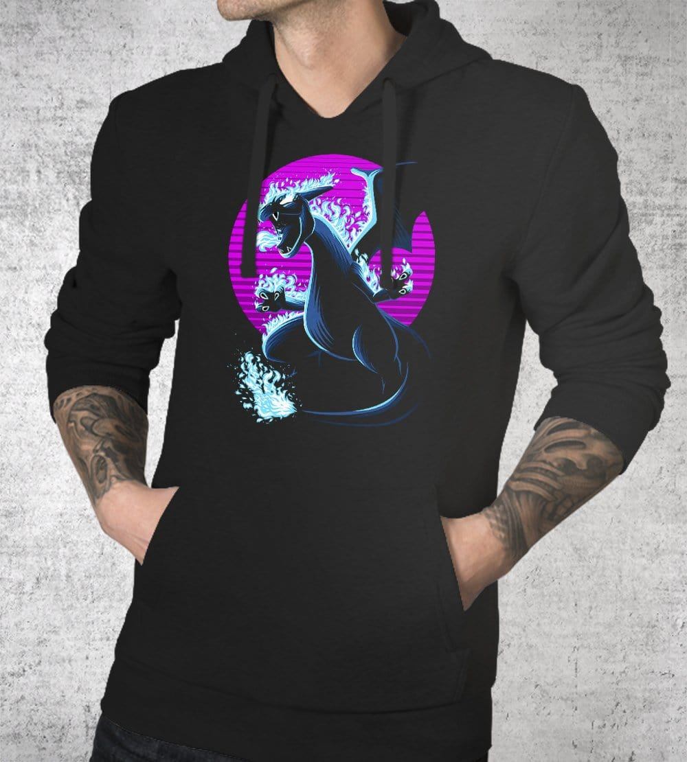 Retro Dragon Hoodies by Alberto Cubatas - Pixel Empire