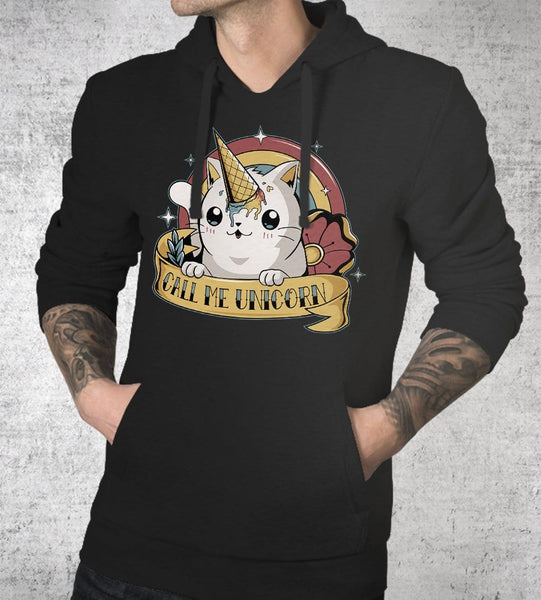 Call Me Unicorn Hoodies by Typhoonic - Pixel Empire