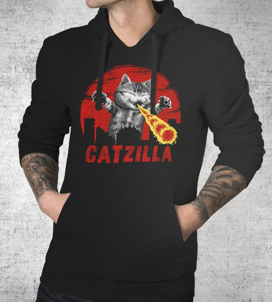 Catzilla Hoodies by Vincent Trinidad - Pixel Empire