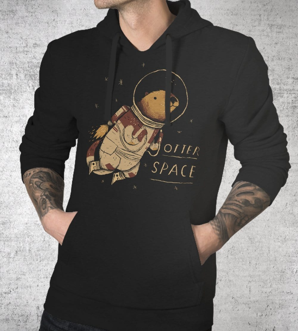Otter Space Hoodies by Louis Roskosch - Pixel Empire