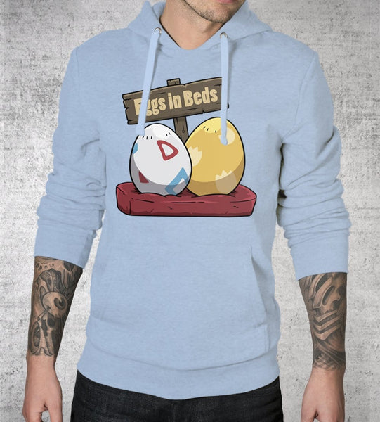 Eggs in Beds Hoodies by Dobbs - Pixel Empire