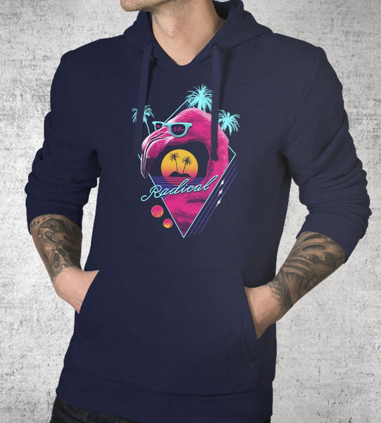 Rad Flamingo Hoodies by Vincent Trinidad - Pixel Empire