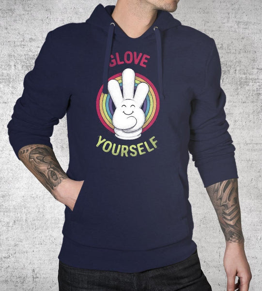 Glove Yourself Hoodies by Daniel Teres - Pixel Empire