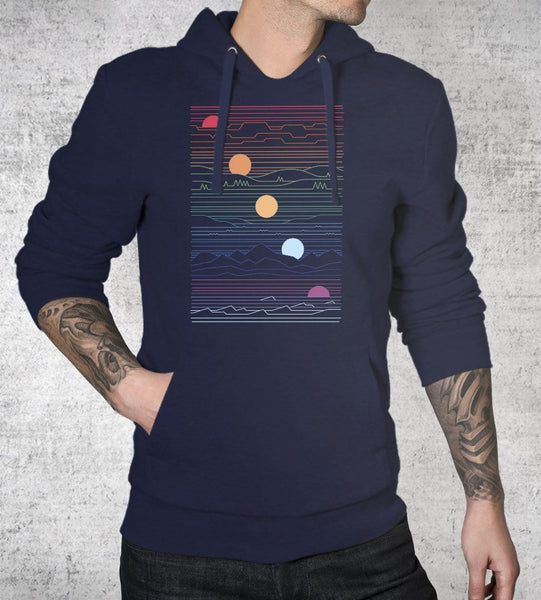Many Lands Under One Sun Hoodies by Rick Crane - Pixel Empire