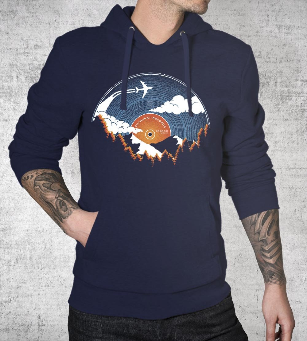 Sunburst Records Hoodies by Dianne Delahunty - Pixel Empire