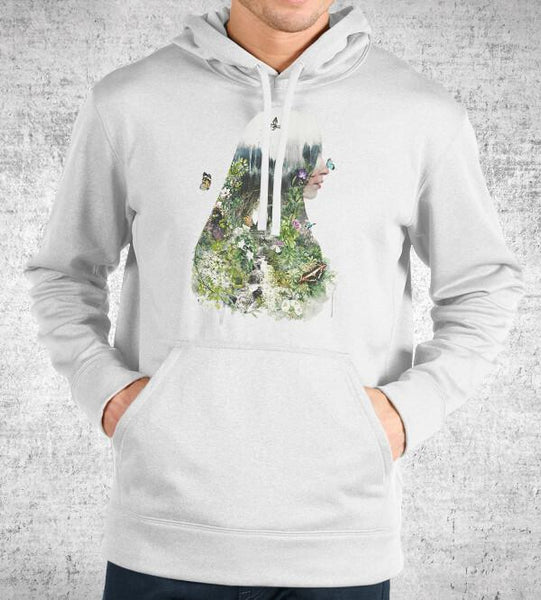 Cat in the Garden Hoodies by Barrett Biggers - Pixel Empire