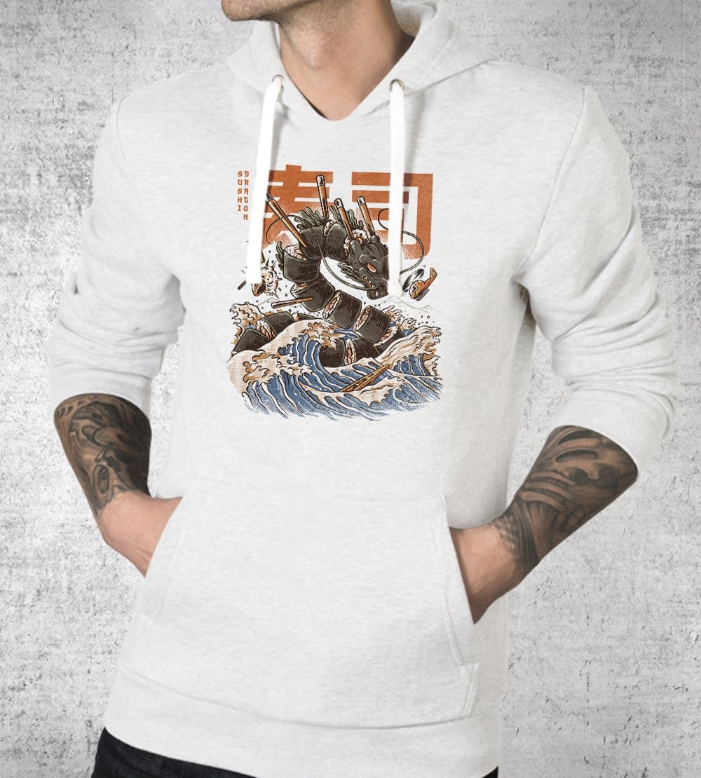 Great Sushi Dragon Hoodies by Ilustrata - Pixel Empire