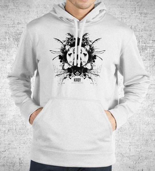 Kirby Ink Blot Hoodies by Barrett Biggers - Pixel Empire
