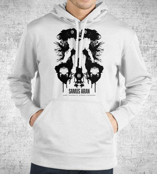 Samus Aran Ink Blot Hoodies by Barrett Biggers - Pixel Empire