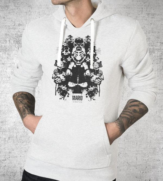 Mario Ink Blot Hoodies by Barrett Biggers - Pixel Empire