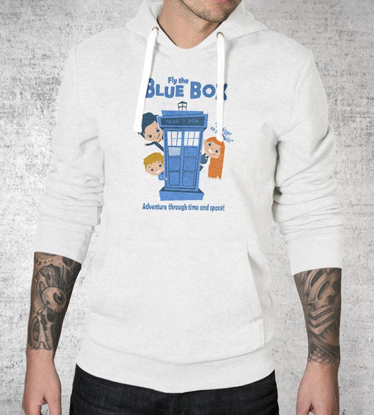 Fly the Blue Box Hoodies by Anna-Maria Jung - Pixel Empire