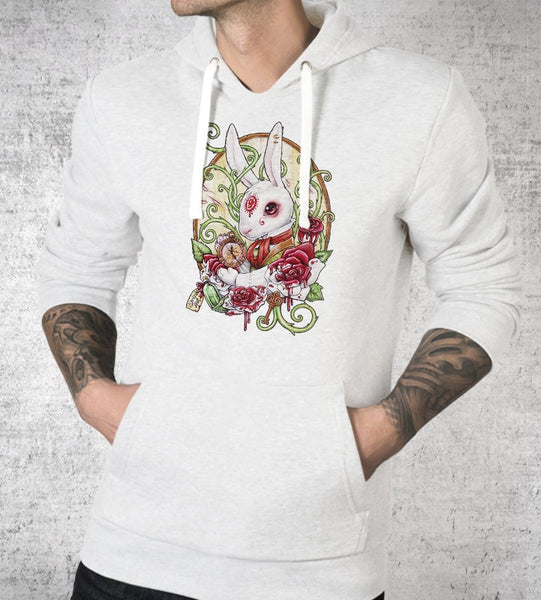 White Rabbit Hoodies by Medusa Dollmaker - Pixel Empire
