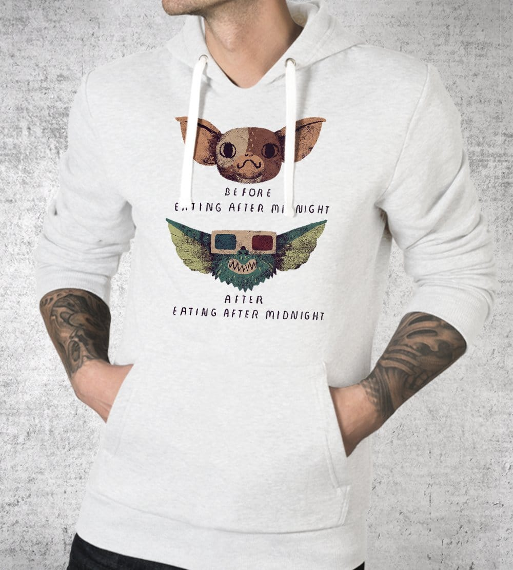 Gremlins Before And After Hoodies by Louis Roskosch - Pixel Empire