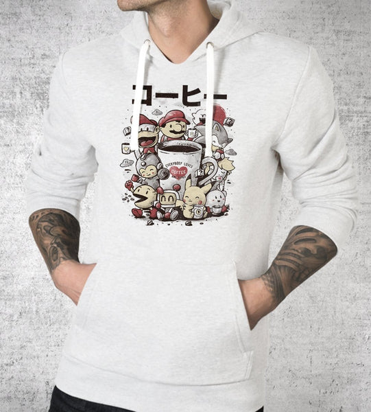 Coffee And Games Hoodies by Eduardo Ely - Pixel Empire