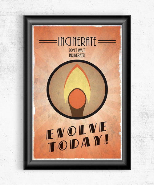 Bioshock Plasmid Incinerate Posters by The Pixel Empire - Pixel Empire