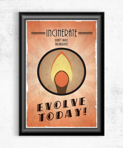 Bioshock Plasmid Incinerate Posters- The Pixel Empire