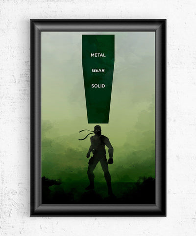 Metal Gear Solid Posters- The Pixel Empire