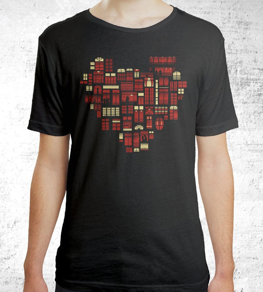 Home Is Where the Heart Is Men's Shirt by Dan Elijah Fajardo - Pixel Empire