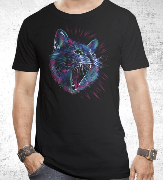 Wild Cat Men's Shirt by Dan Elijah Fajardo - Pixel Empire
