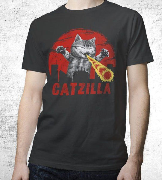 Catzilla Men's Shirt by Vincent Trinidad - Pixel Empire