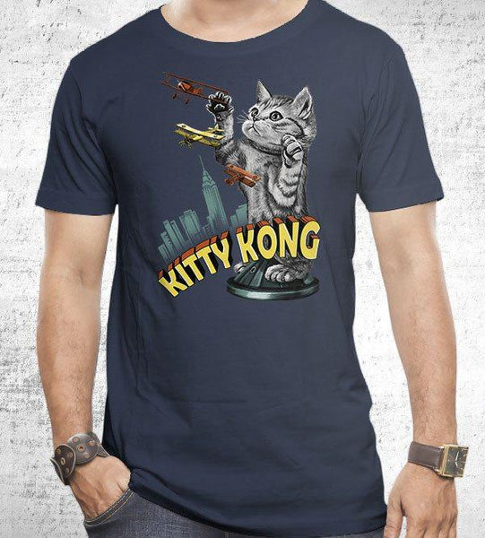 Kitty Kong Men's Shirt by Vincent Trinidad - Pixel Empire