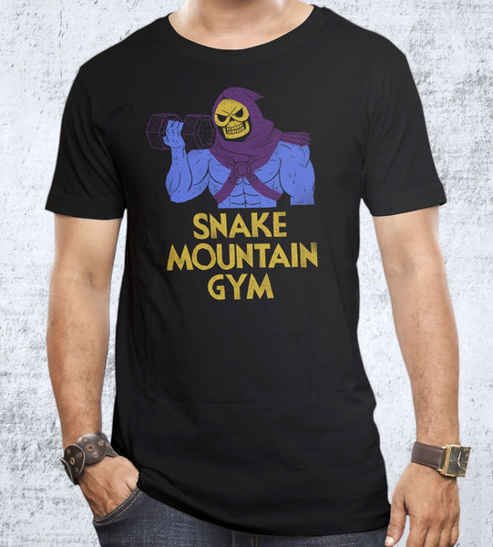Snake Mountain Gym Men's Shirt by Louis Roskosch - Pixel Empire