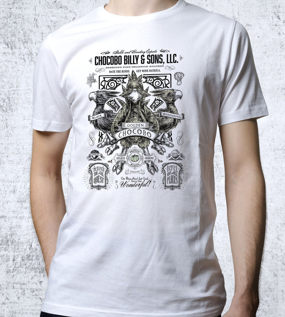 Golden Chocobo Vintage Advertisement T-Shirts by Barrett Biggers - Pixel Empire