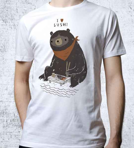 Sushi Bear Men's Shirt by Louis Roskosch - Pixel Empire