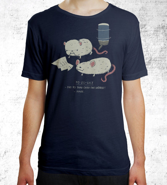 Pinky & the Brain To Do List T-Shirts by Louis Roskosch - Pixel Empire