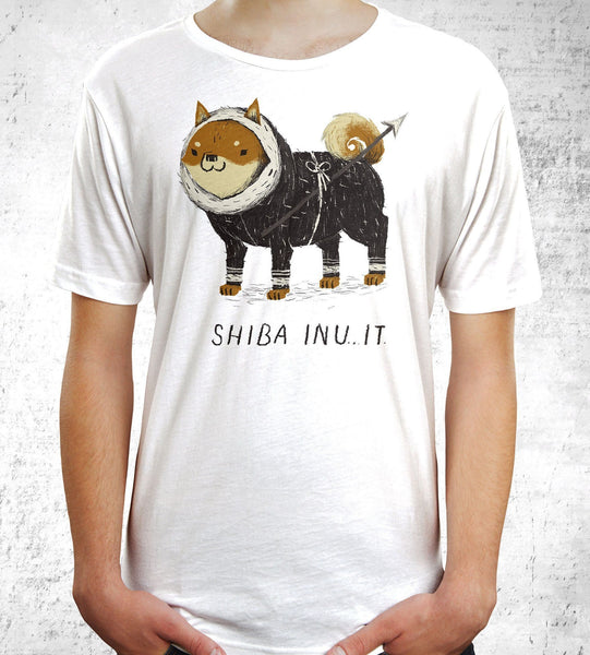 Shiba Inu-It Men's Shirt by Louis Roskosch - Pixel Empire