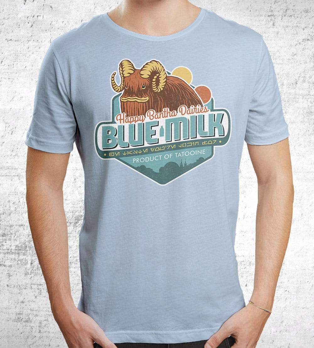 Blue Milk T-Shirts by Cory Freeman Design - Pixel Empire