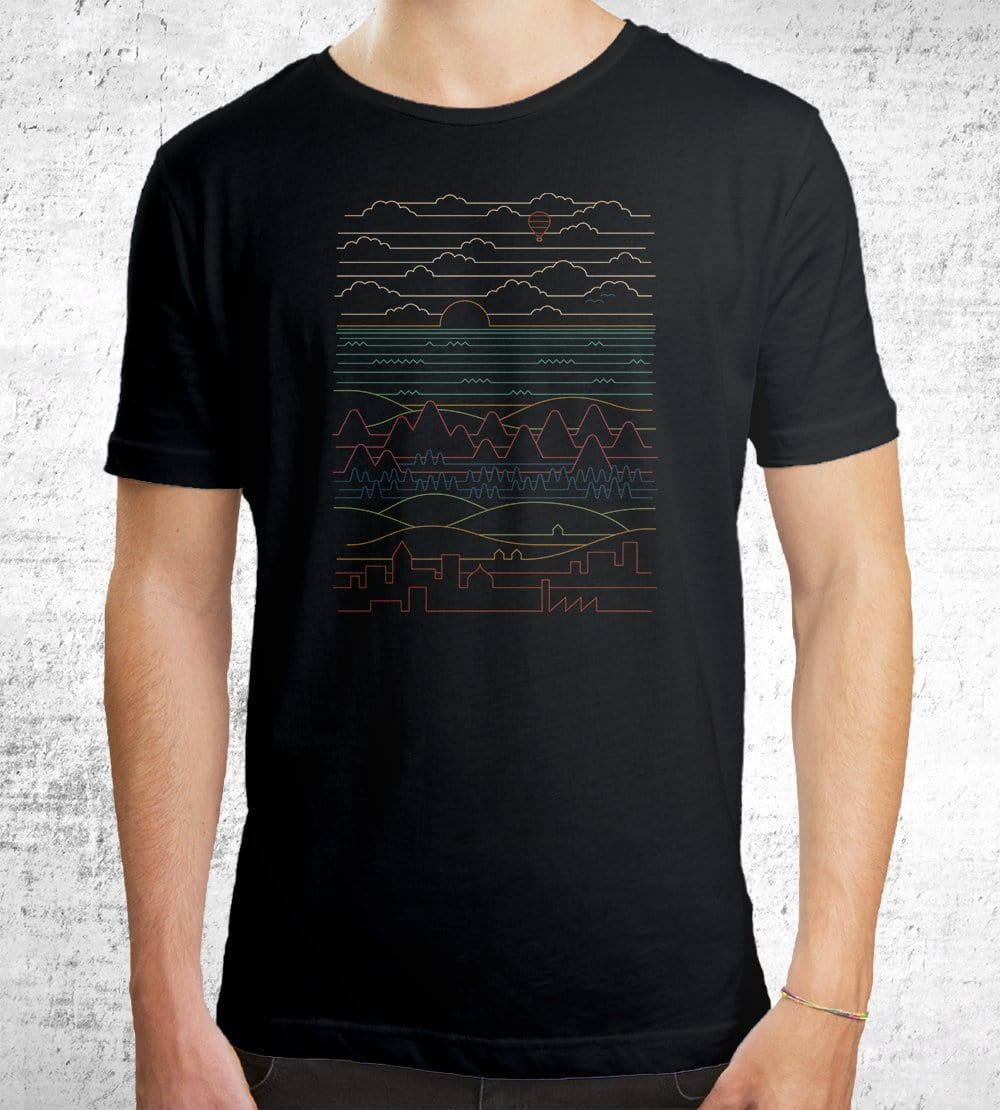 Linear Landscape T-Shirts by Rick Crane - Pixel Empire