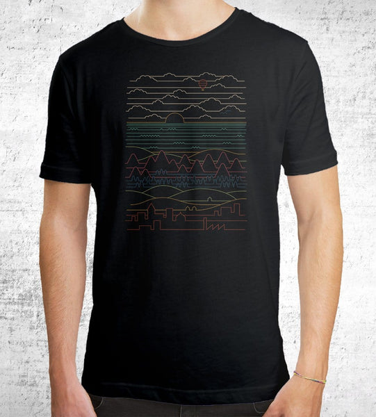 Linear Landscape Men's Shirt by Rick Crane - Pixel Empire