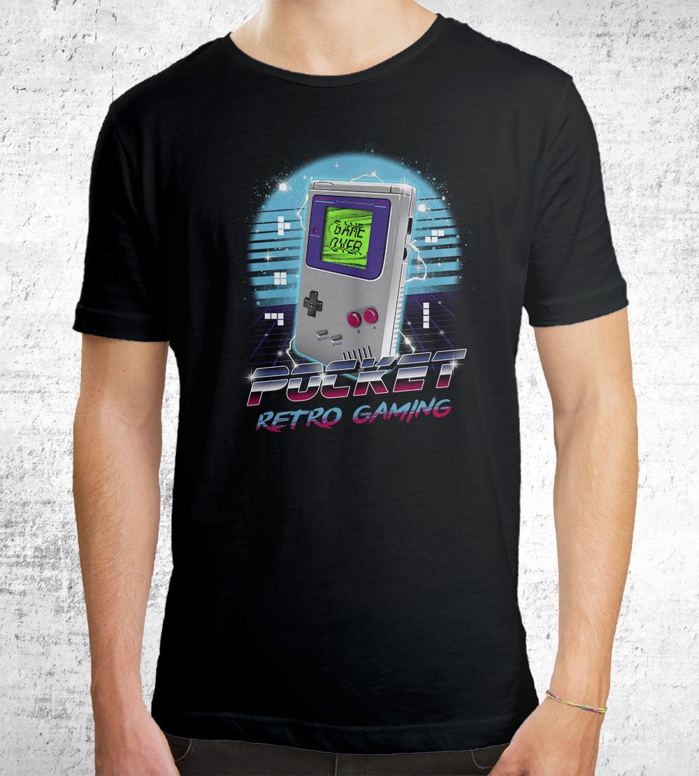 Pocket Retro Gaming T-Shirts by Vincent Trinidad - Pixel Empire