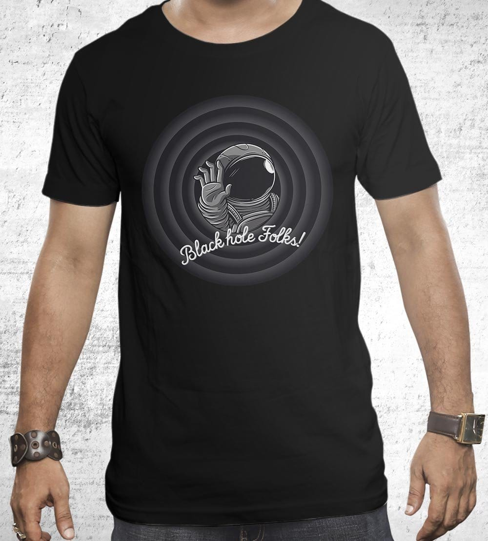 Black Hole Folks T-Shirts by Elia Colombo - Pixel Empire