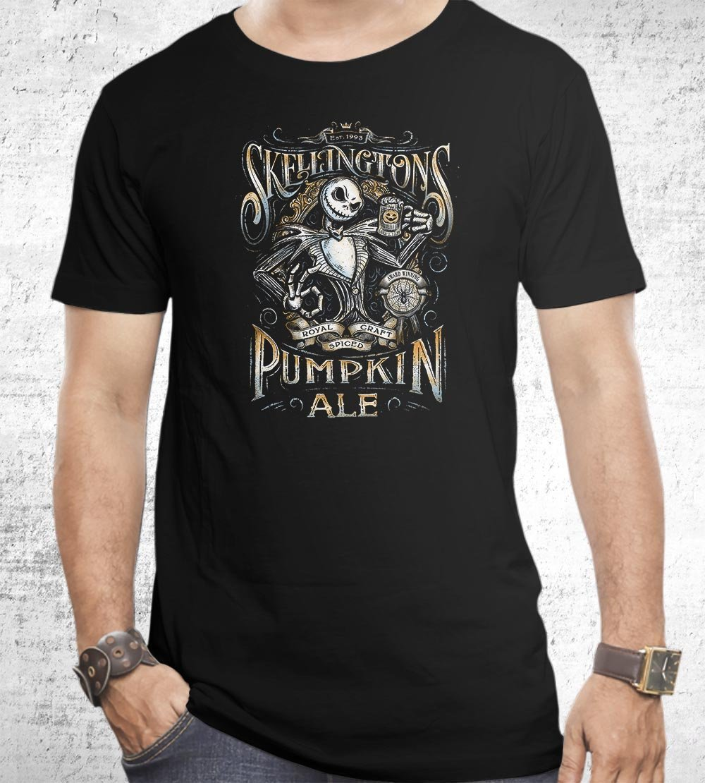 Skellington's Pumpkin Ale T-Shirts by Barrett Biggers - Pixel Empire