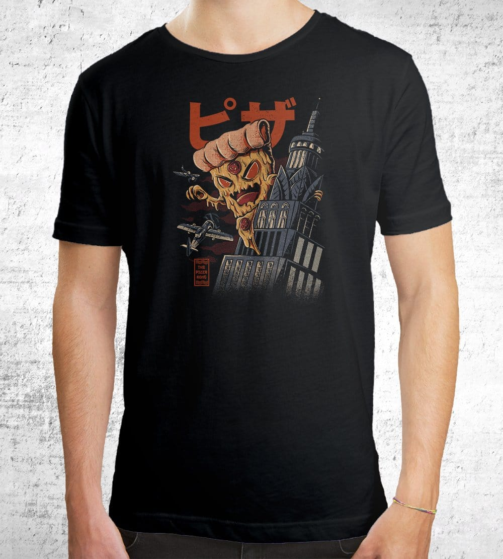 Pizza Kong T-Shirts by Ilustrata - Pixel Empire