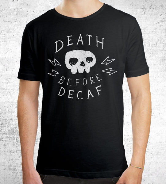 Death Before Decaf Men's Shirt by Ronan Lynam - Pixel Empire
