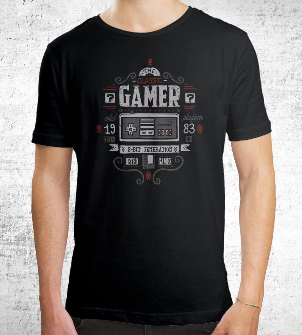 Classic Gamer T-Shirts by Typhoonic - Pixel Empire