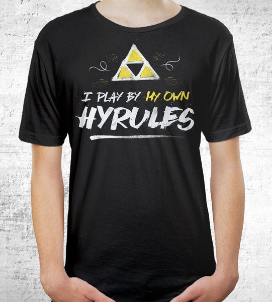 I Play By My Own Hyrules Men's Shirt by Barrett Biggers - Pixel Empire
