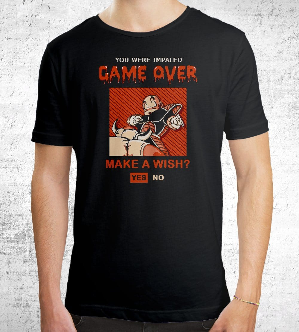 Game Over Krillin T-Shirts by Cod Designs - Pixel Empire