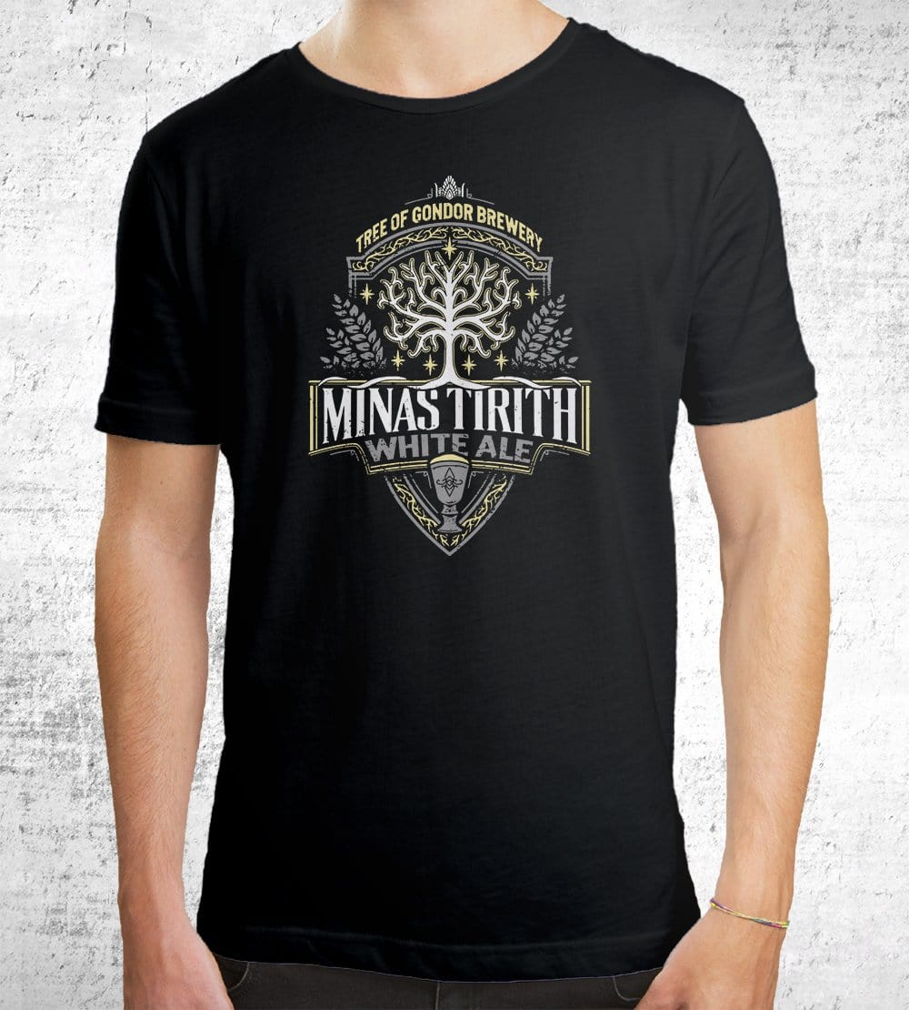 Minas Tirith White Ale T-Shirts by Cory Freeman Design - Pixel Empire