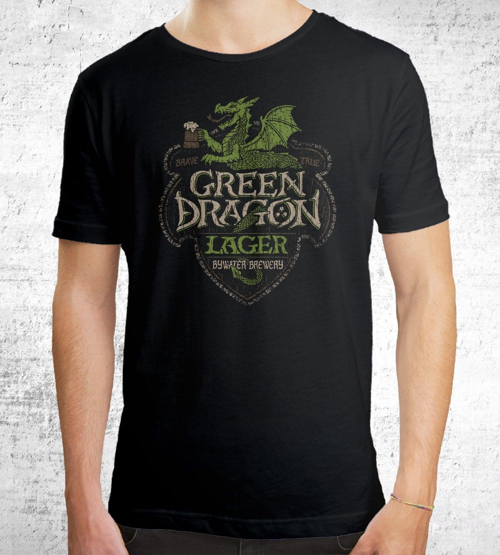 Green Dragon Lager T-Shirts by Cory Freeman Design - Pixel Empire