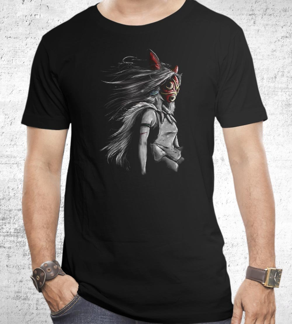 Sans Fury Mononoke T-Shirts by Barrett Biggers - Pixel Empire