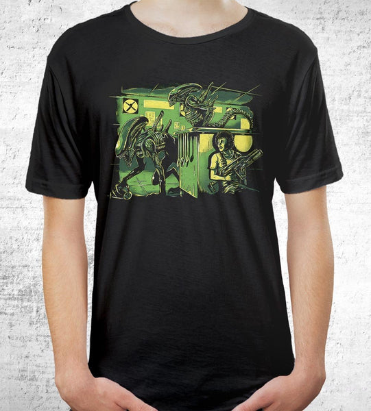 Jurassic Xenomorphs Men's Shirt by Barrett Biggers - Pixel Empire