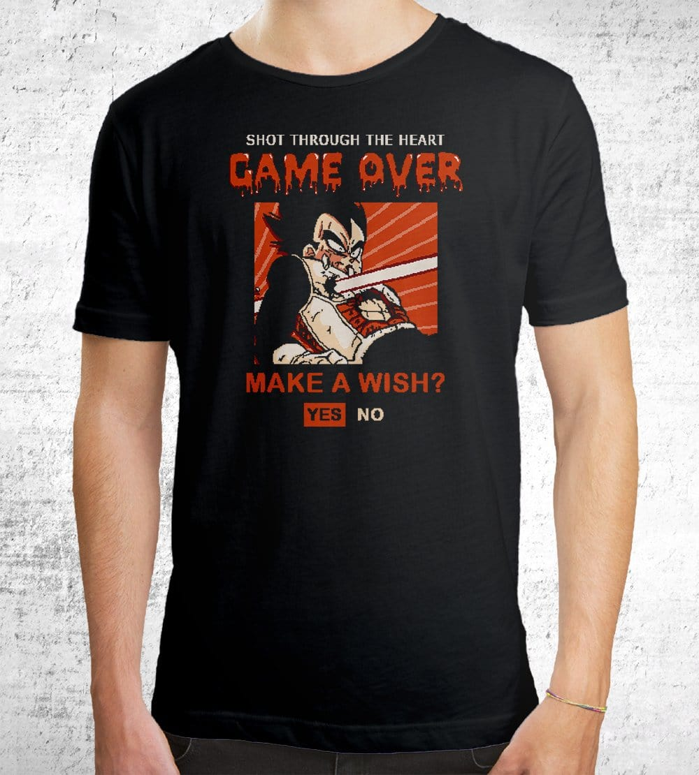 Game Over Vegeta T-Shirts by Cod Designs - Pixel Empire