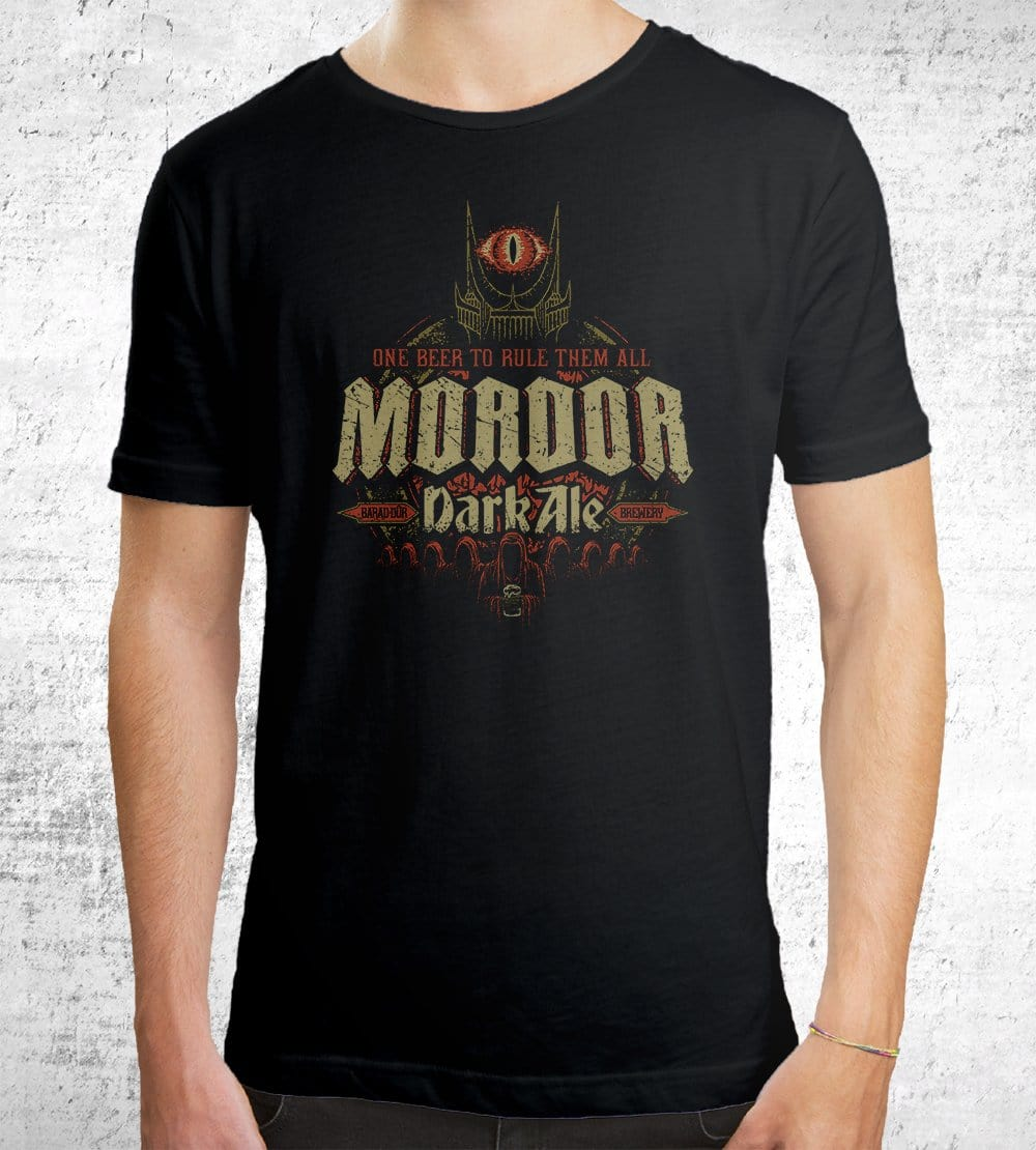 Mordor Dark Ale T-Shirts by Cory Freeman Design - Pixel Empire