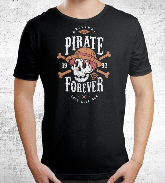Wanted Pirate Forever Men's Shirt by Olipop - Pixel Empire