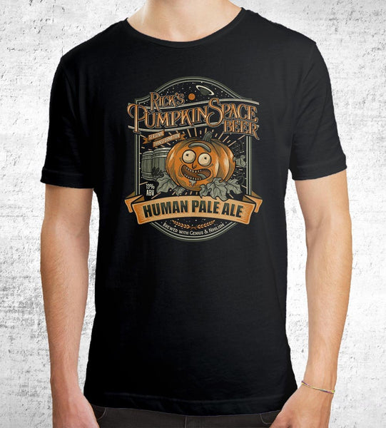 Rick's Pumpkin Space HPA Men's Shirt by Diego Pedauyé - Pixel Empire
